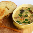 Stock Photo: Wild mushrooms cream soup 4
