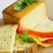 Smoked full fat cheese 3 — Stockfoto