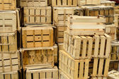 Empty crates — Stock Photo