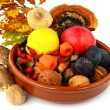 Stock Photo: Decoration of autumn fruits