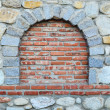 Stone and brick wall — Stock Photo