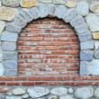 Stone and brick wall — Stok fotoğraf