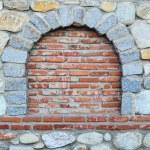 Stone and brick wall — Stock Photo