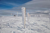 Frozen pillars in rows — Stock Photo