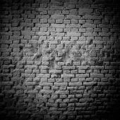 Raw brick wall b&w — Stock Photo