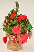 红色节日装饰品 — 图库照片
