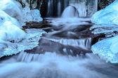 Milky stream and ice — Photo