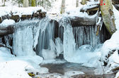 Zamarzniętym wodospadzie — Zdjęcie stockowe