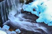 Waterfall blue ice — Foto de Stock