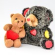 Stock Photo: Two hugging Teddy Bears