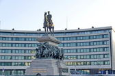 Statue renovated of Tsar Alexander II of Russia — Stock Photo