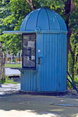 Original old newspaper kiosk — Stock Photo