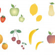 Group of fruits diverse — Stock Vector