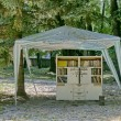 Outdoor library in garden old  — Stock Photo