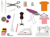 Sewing & Tailoring Icons — Stock Vector