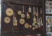 Set of traditional wooden souvenir — Stock Photo