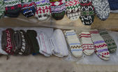 Traditional bulgarian colorfull wool bootee and stocking — Stock Photo