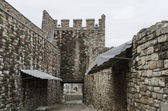 View an inside of fence and entrance in the Tsarevets Fortress — Stock Photo