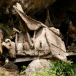 Stock Photo: Graves in village in TanToraja, Indonesia