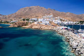 The Aegean Sea and the harbour of a Cycladic Island, Greece — Stock Photo