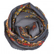 A gray and orange silk scarf associated rose — Stock Photo #47429013
