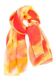 A red and orange silk scarf — Stock Photo