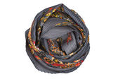 A gray and orange silk scarf associated rose — Stock Photo