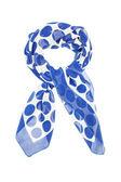 White silk scarf in blue circle — Stock Photo