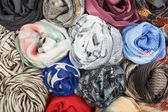 The set of silk scarves associated rose — Zdjęcie stockowe