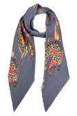 Grey silk scarf with colors — Stock Photo