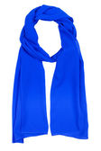 Blue silk scarf — Stock Photo