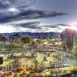 hdr graveyard — Stock Photo