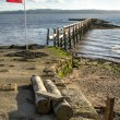 Stock Photo: Culross Pier on River Forth