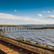 Railway tracks and Pier — Stock Photo #15010841