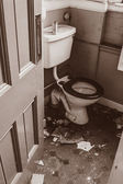 Old ababdoned toilet — Stock Photo