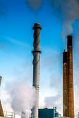 Power Station Towers blowing smoke — Stock Photo