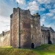 Sunshine on Scottish Castle - Stock Photo