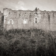 Castle wall in Scotland — Stock Photo