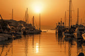 Sunset over Gibraltar Harbour — Stock Photo