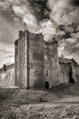 A dramatic foreboding Castle — Stock Photo