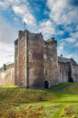 Sunshine on Scottish Castle — Stock Photo
