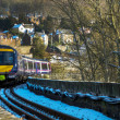 Incoming Train in Perth Scotland — Stock Photo