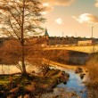 Sunset in Perth Scotland — Stock Photo