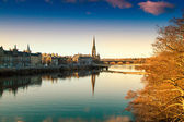 View of the River Tay in Perth Scotland — Stock Photo
