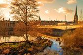 Sunset in Perth Scotland — Foto de Stock