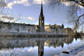 Snow on the River Tay in Perth Scotland — Stock Photo