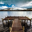 Dramatic Pier at Lochernhead in Scotland — Stock Photo #23511237
