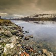Still water at Lochernhead in Scotland — Stock Photo
