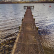 Long Pier at Lochernhead — Stock Photo