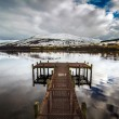 Pier at Lochernhead in Scotland — Stock Photo #24356243